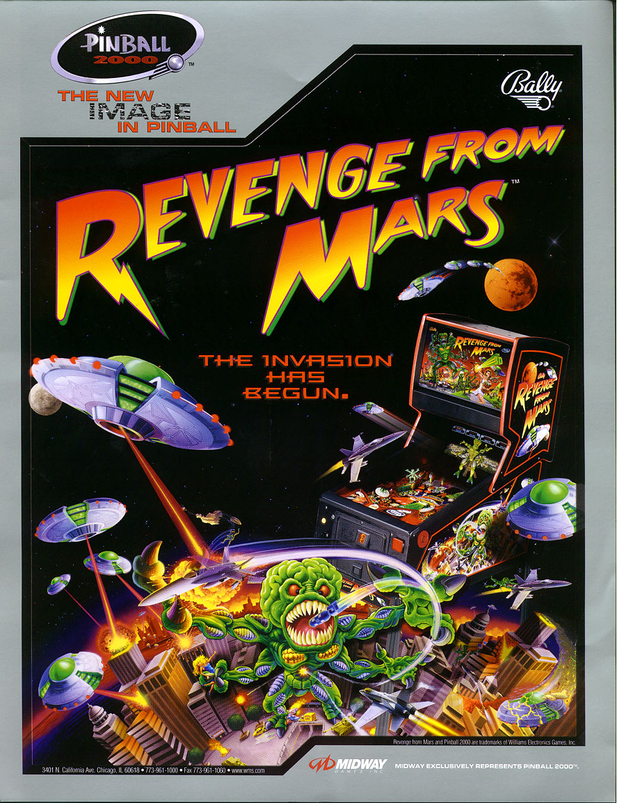 Revenge From Mars pinball at The Waiting Room in St. Louis, MO.