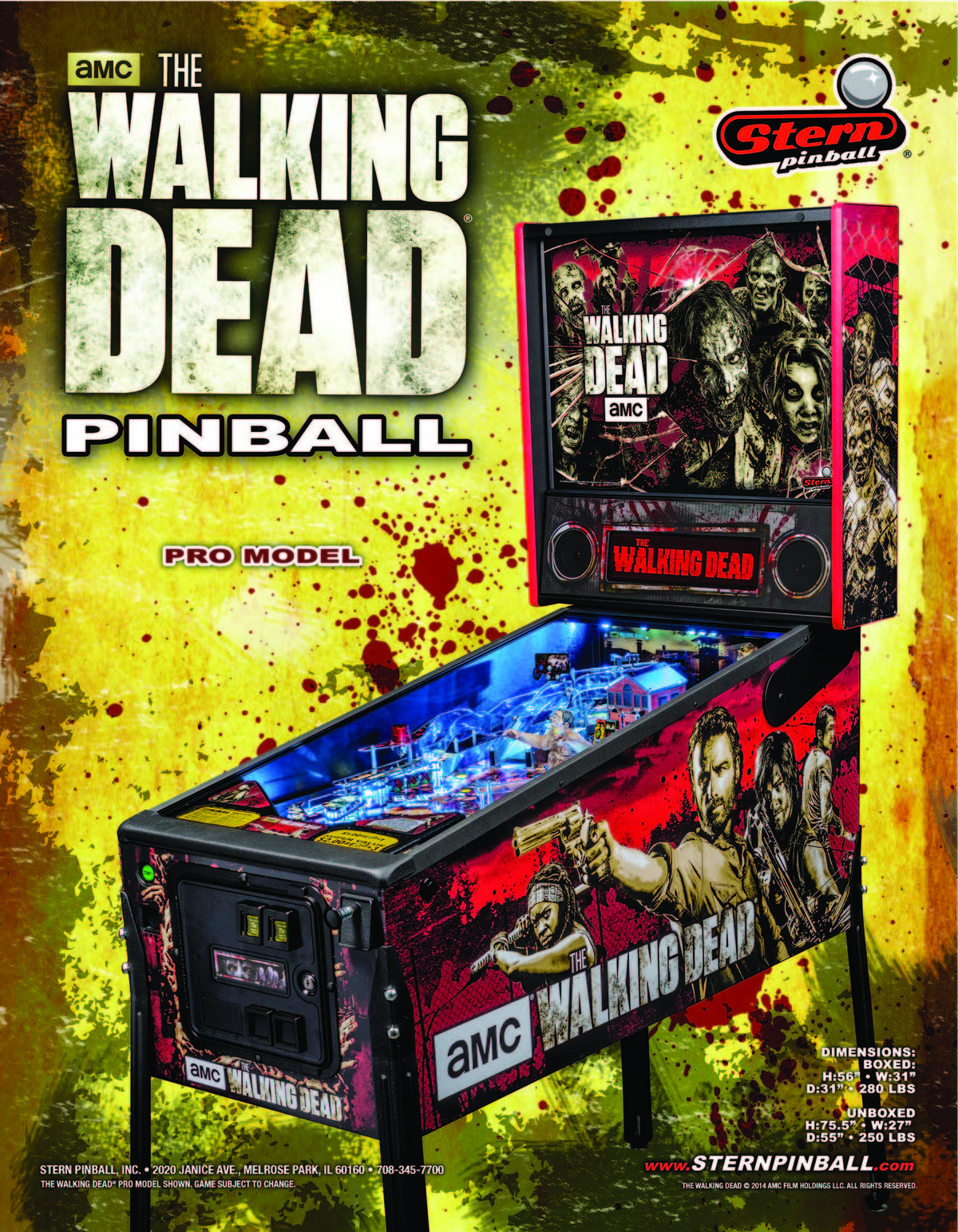The Walking Dead Soccer pinball at The Waiting Room.